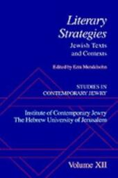 Studies in Contemporary Jewry: Volume XII: Literary Strategies: Jewish Texts and Contexts