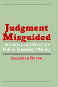 Ebook in inglese Judgment Misguided: Intuition and Error in Public Decision Making Baron, Jonathan