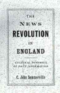 Ebook in inglese News Revolution in England: Cultural Dynamics of Daily Information Sommerville, C. John