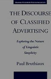 Discourse of Classified Advertising: Exploring the Nature of Linguistic Simplicity