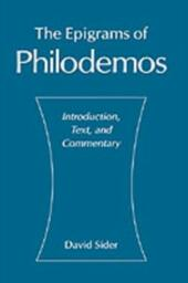 Epigrams of Philodemos: Introduction, Text, and Commentary