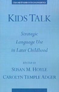 Foto Cover di Kids Talk: Strategic Language Use in Later Childhood, Ebook inglese di  edito da Oxford University Press