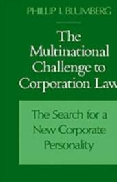 Multinational Challenge to Corporation Law: The Search for a New Corporate Personality