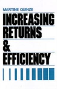 Ebook in inglese Increasing Returns and Efficiency Quinzii, Martine