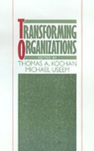 Ebook in inglese Transforming Organizations -, -