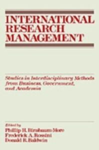Ebook in inglese International Research Management: Studies in Interdisciplinary Methods from Business, Government, and Academia