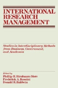 Ebook in inglese International Research Management: Studies in Interdisciplinary Methods from Business, Government, and Academia -, -