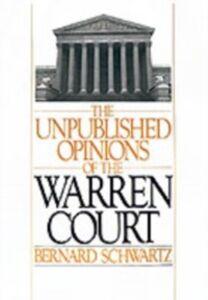 Foto Cover di Unpublished Opinions of the Warren Court, Ebook inglese di Bernard Schwartz, edito da Oxford University Press