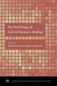The Psychology of Judicial Decision Making - cover