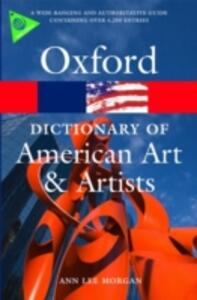 Oxford Dictionary of American Art and Artists - Anne Lee Morgan - cover