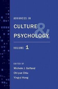 Advances in Culture and Psychology: Volume 1 - cover