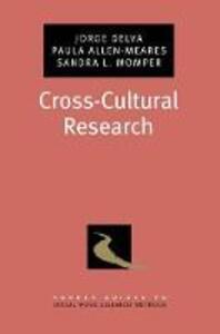 Cross-Cultural Research - Jorge Delva,Paula Allen-Meares,Sandra L. Momper - cover