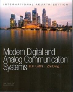Modern Digital and Analog Communications Systems - Zhi Ding - cover