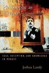 Philosophy as Fiction - Joshua Landy - cover