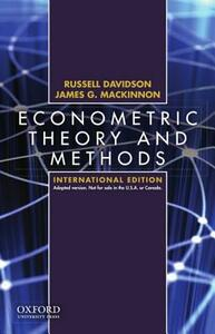 Econometric Theory and Methods: International Edition - Russell Davidson - cover