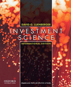 Investment Science: International Edition - David G. Luenberger - cover