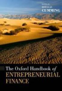 The Oxford Handbook of Entrepreneurial Finance - cover