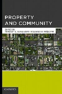 Property and Community - Gregory S. Alexander,Eduardo Moises Penalver - cover