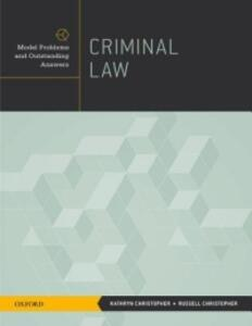 Criminal Law - Kathryn Christopher,Russell Christopher - cover