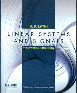 Linear Systems and Signals: International Edition - B. P. Lathi - cover
