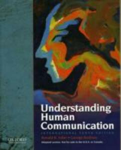 Understanding Human Communication - Ronald Adler,George R. Rodman - cover
