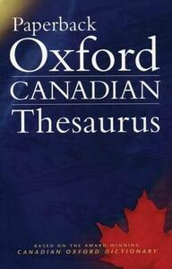 Paperback Oxford Canadian Thesaurus - cover