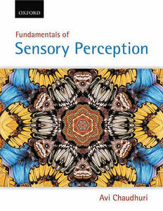 Fundamentals of Sensory Perception - Avi Chaudhuri - cover