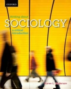 Thinking About Sociology: A Critical Introduction - Karen Anderson - cover
