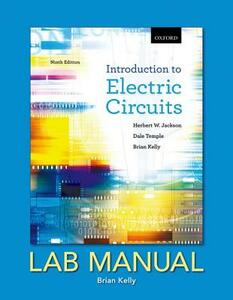 Introduction to Electric Circuits, Ninth Edition, Lab Manual - Herbert W. Jackson,Dale Temple,Brian E. Kelly - cover