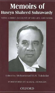 Memoirs of Huseyn Shaheed Suhrawardy: With a Brief Account of His Life and Work - cover