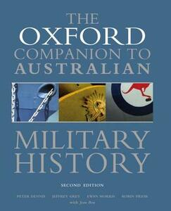 The Oxford Companion to Australian Military History - Peter Dennis,Jeffrey Grey - cover