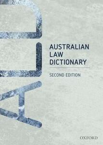 Australian Law Dictionary - cover