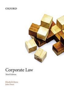Corporate Law - Elizabeth Boros,John Duns - cover