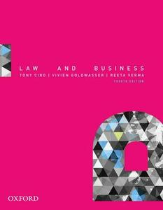 Law and Business - Tony Ciro,Vivien Goldwasser,Reeta Verma - cover