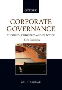 Corporate Governance: Theories, Principles and Practice - John H. Farrar - cover