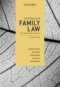 Australian Family Law: The Contemporary Context - Belinda Fehlberg,Rae Kaspiew,Jenni Millbank - cover