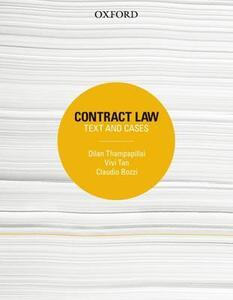 Contract Law: Text and Cases - Dilan Thampapillai,Vivi Tan,Claudio Bozzi - cover