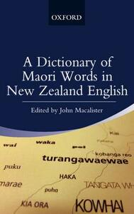 A Dictionary of Maori Words in New Zealand English - cover