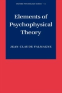 Ebook in inglese Elements of Psychophysical Theory Falmagne, Jean-Claude