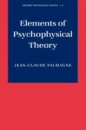Elements of Psychophysical Theory