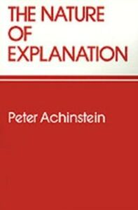 Ebook in inglese Nature of Explanation Achinstein, Peter