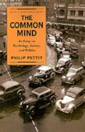 Common Mind: An Essay on Psychology, Society, and Politics