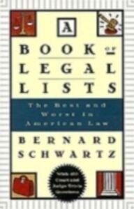 Ebook in inglese Book of Legal Lists Schwartz, Bernard