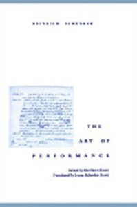 Ebook in inglese Art of Performance Schenker, Heinrich