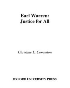 Ebook in inglese Earl Warren: Justice for All Compston, Christine L.