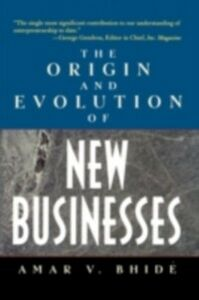 Ebook in inglese Origin and Evolution of New Businesses Bhide, Amar V.