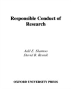 Foto Cover di Responsible Conduct of Research, Ebook inglese di David B. Resnik,Adil E. Shamoo, edito da Oxford University Press, UK