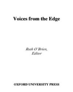Ebook in inglese Voices from the Edge Narratives about the Americans with Disabilities Act RUTH, O'BRIEN