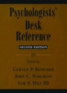Ebook in inglese Psychologists' Desk Reference 2/e P, KOOCHER GERALD