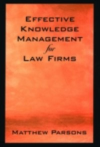 Ebook in inglese Effective Knowledge Management for Law Firms Parsons, Matthew